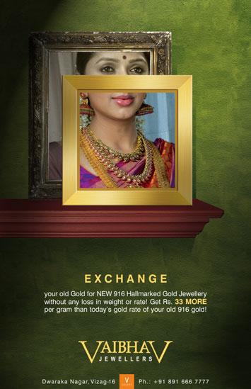 Vaibhav Jewellers Exchange Ad